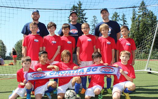 Juniors 2015 U-11 Boys (coaches left to right: Jure V, Mark V, Rob R)