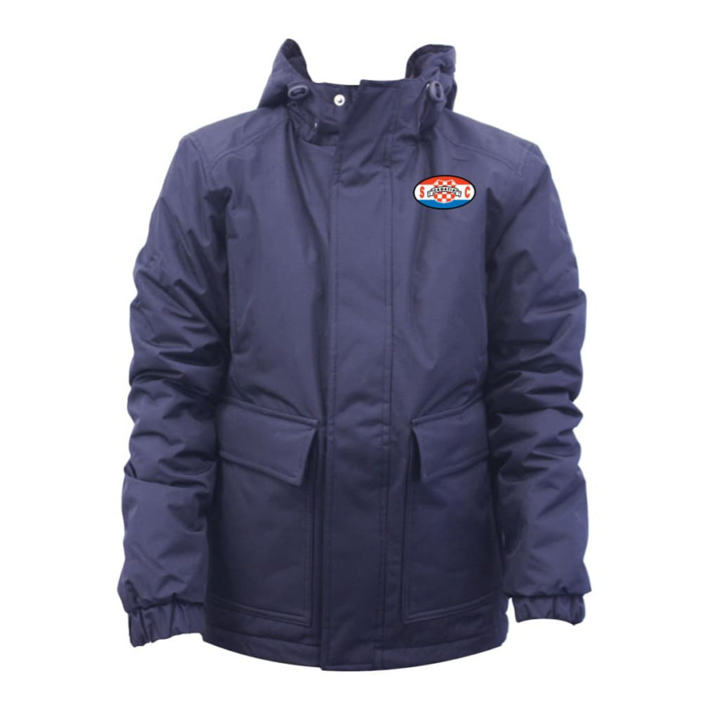 Croatia SC Vancouver Admiral Rival Padded Bench Coat - Navy/White